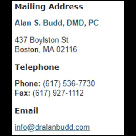Dr. Alan S Budd