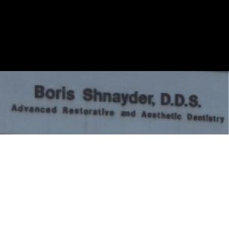 Dr. Boris Shnayder