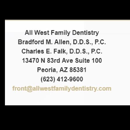 Dr. Bradford M Allen