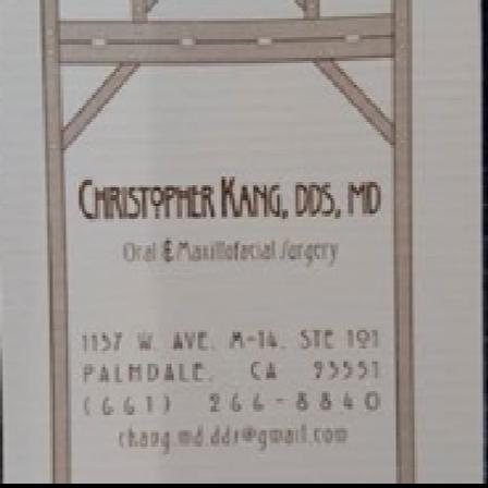 Dr. Christopher Kang