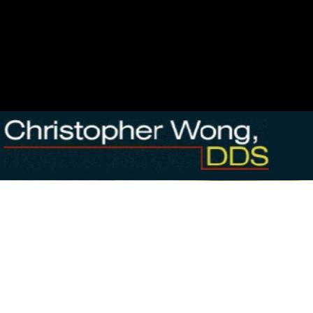 Dr. Christopher B Wong