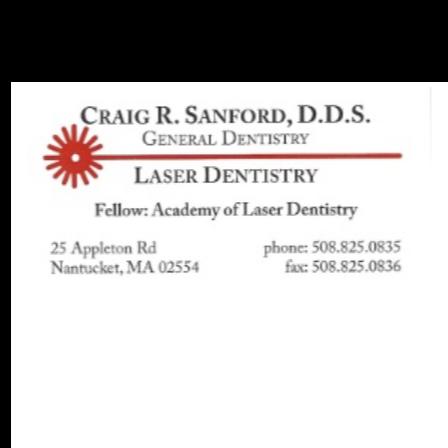 Dr. Craig R Sanford