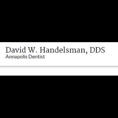 Dr. David W Handelsman