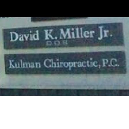 Dr. David K. Miller, Jr.