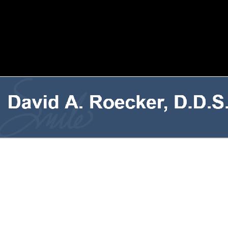 Dr. David A Roecker