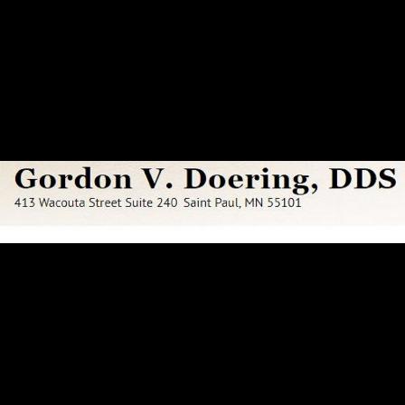 Dr. Gordon V Doering