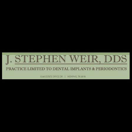 Dr. J Stephen Weir