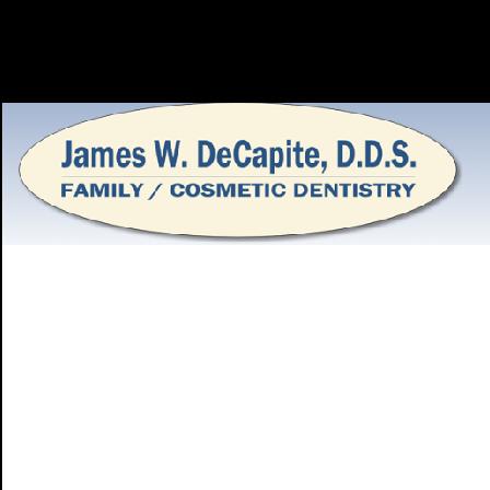 Dr. James W. DeCapite