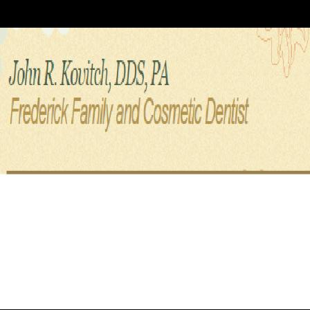 Dr. John R Kovitch