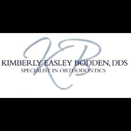 Dr. Kimberly E Bodden