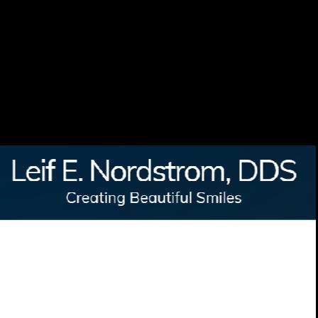Dr. Leif E Nordstrom