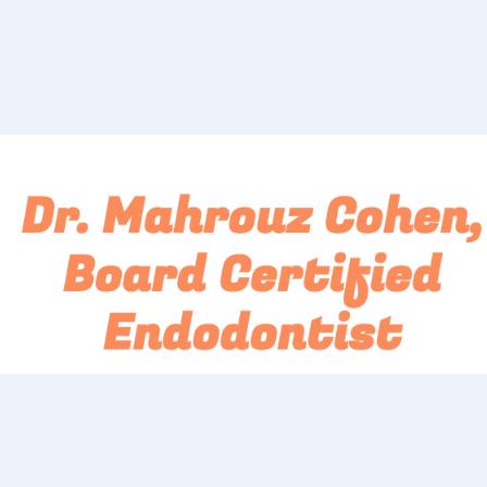 Dr. Mahrouz Cohen