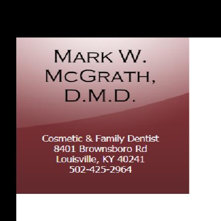 Dr. Mark W McGrath