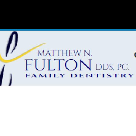 Dr. Matthew N. Fulton
