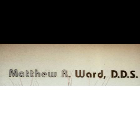 Dr. Matthew R. Ward