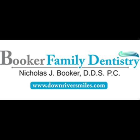 Dr. Nicholas J. Booker