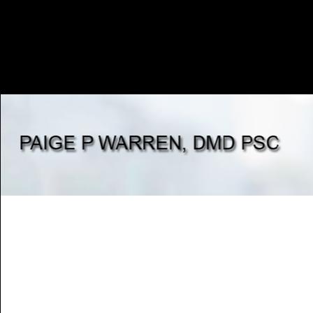 Dr. Paige P Warren