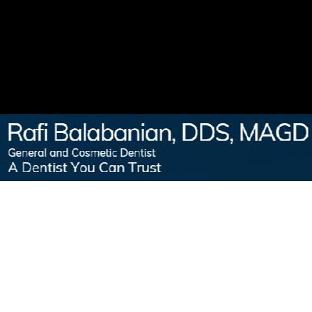 Dr. Rafi Balabanian