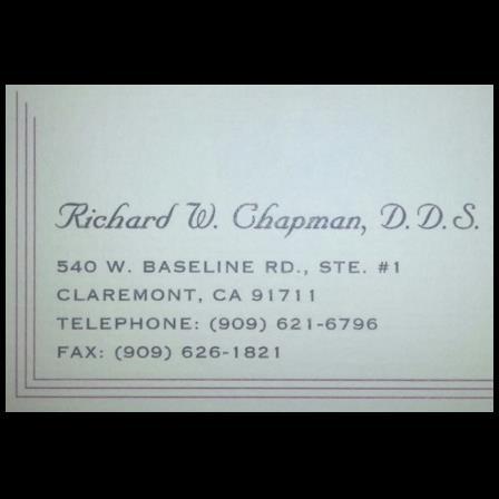 Dr. Richard W Chapman