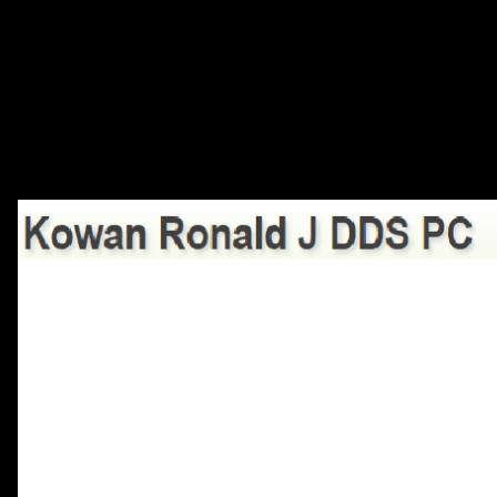 Dr. Ronald J Kowan
