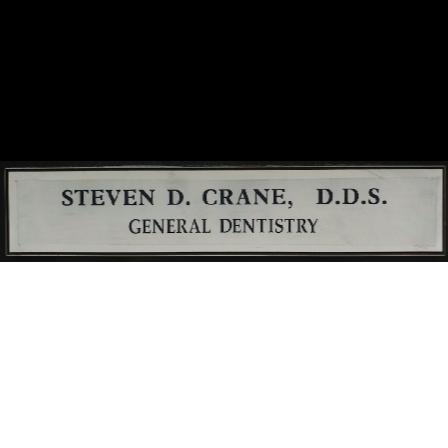 Dr. Steven D Crane