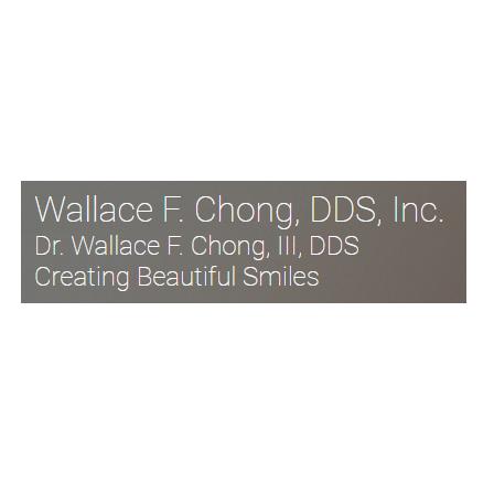 Dr. Wallace F Chong, III