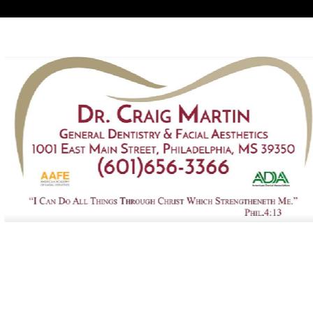 Dr. W Craig Martin